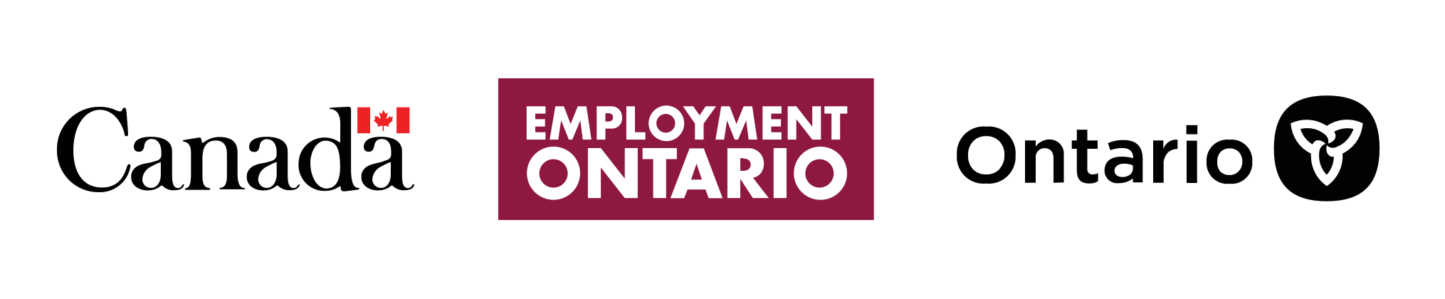 Logos of the Canadian Government, Employment Ontario, and the Ontario Government