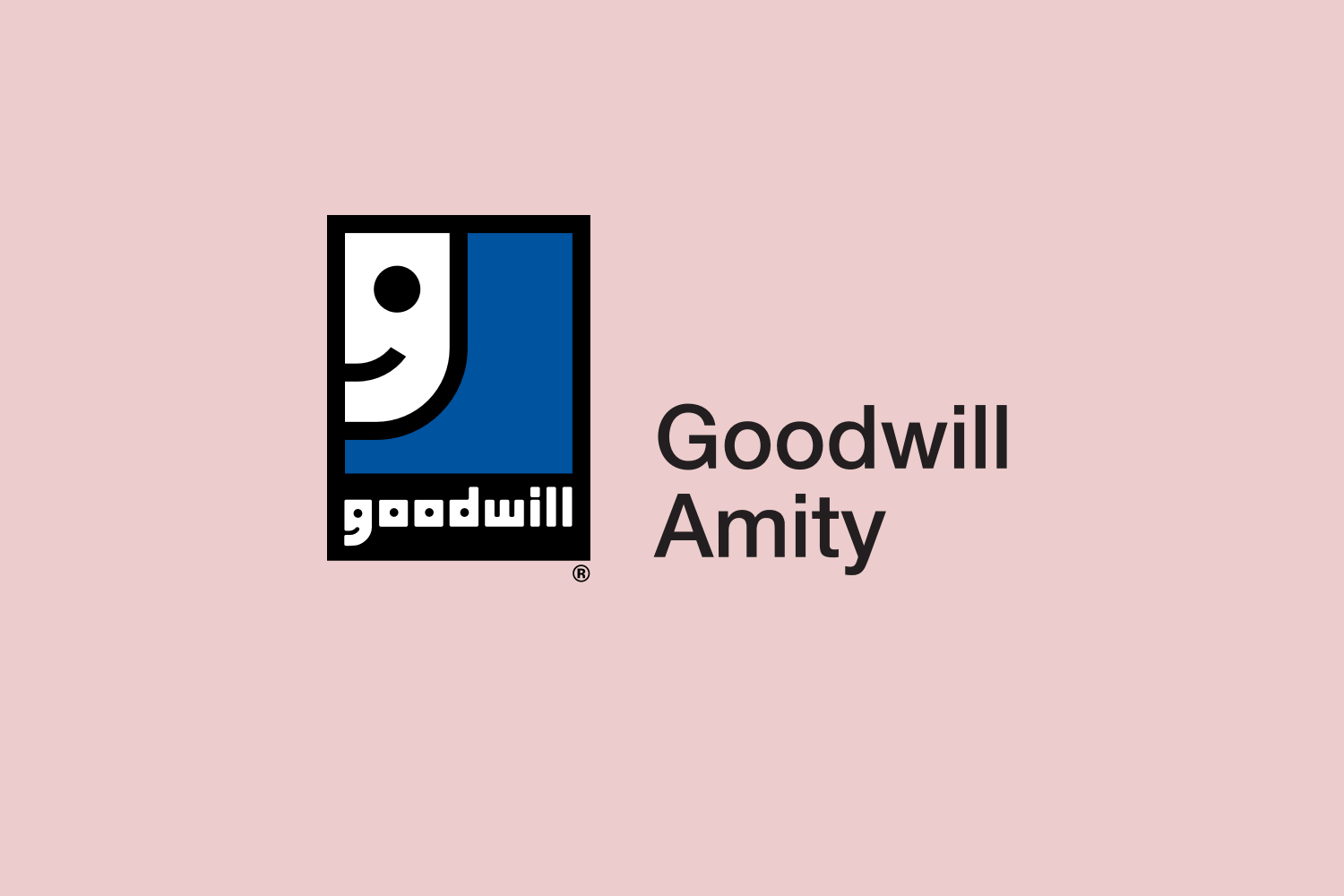 Goodwill Amity logo on red background