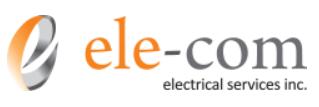 logo of ele-com electrical services
